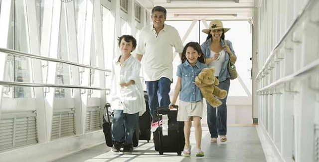 Photo of happy family after air travel