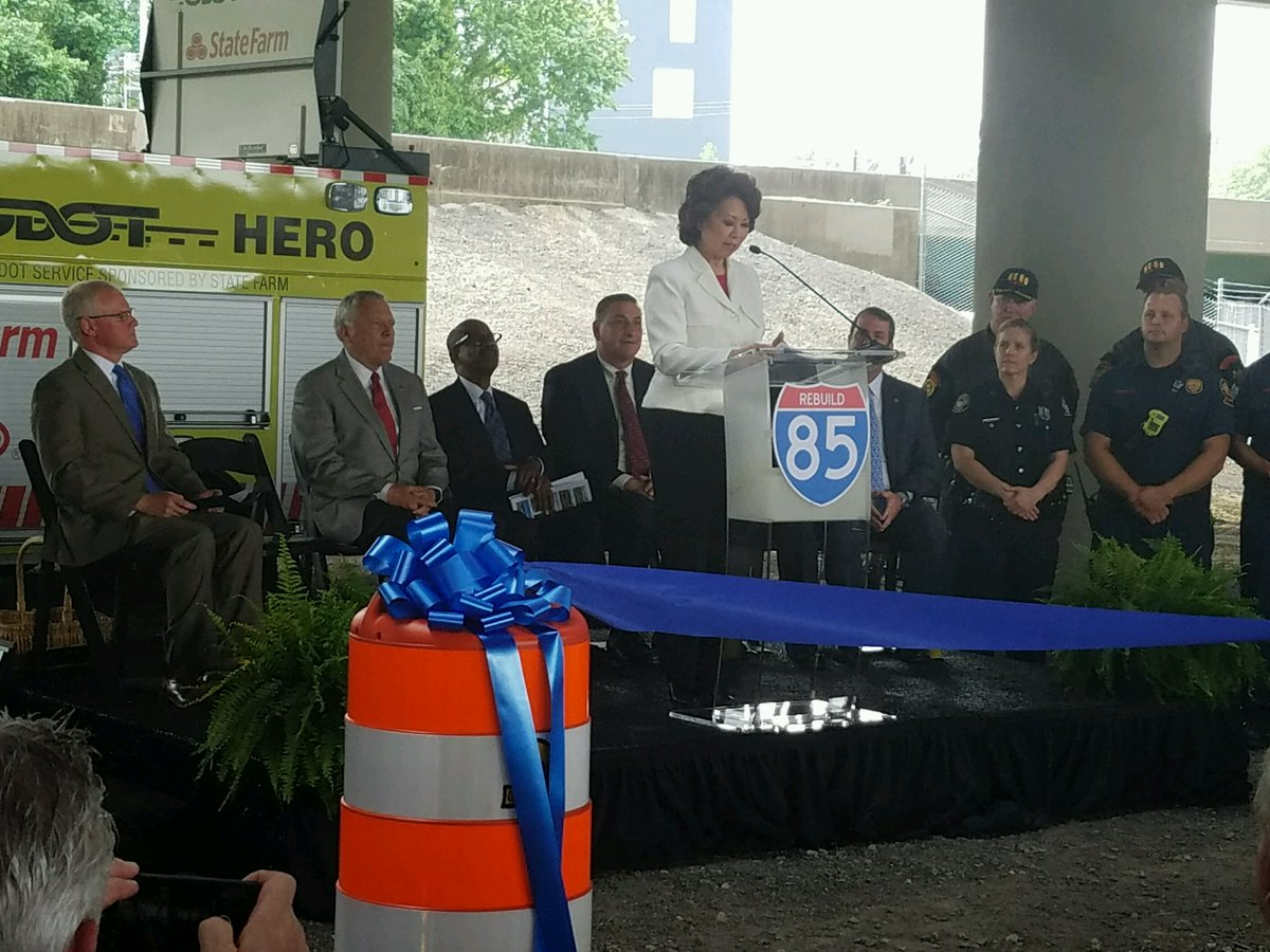 Secretary Chao joins Governor Deal and GA Leaders for I-85 Ceremonial Opening