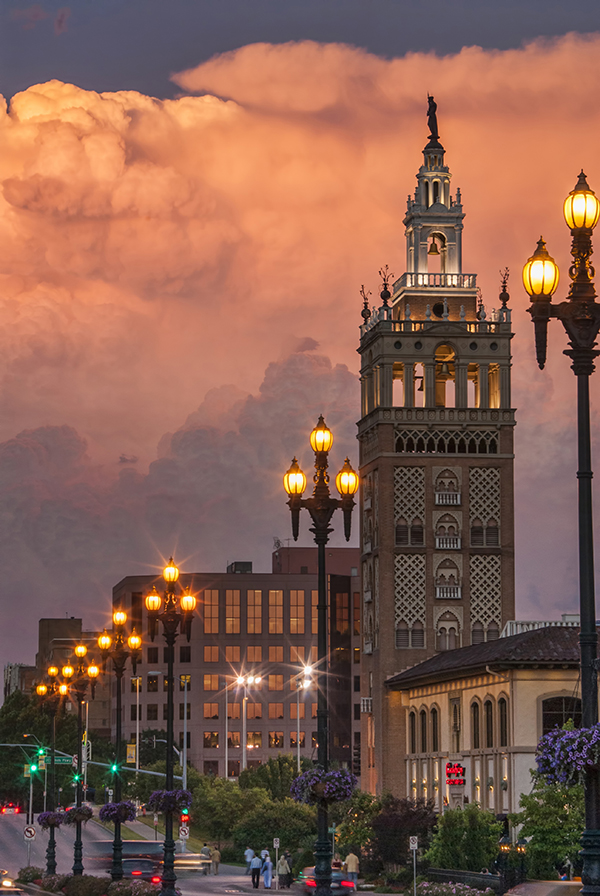 image of clouds with building in kansas city