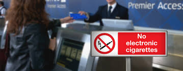 No electronic cigarettes in checked baggage