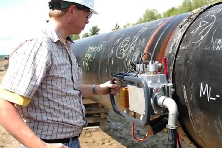 Photo of pipeline safety research