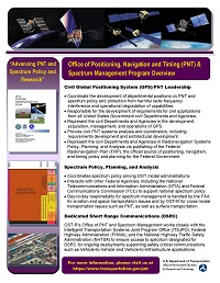 Image of the PNT Spectrum Management Fact Sheet