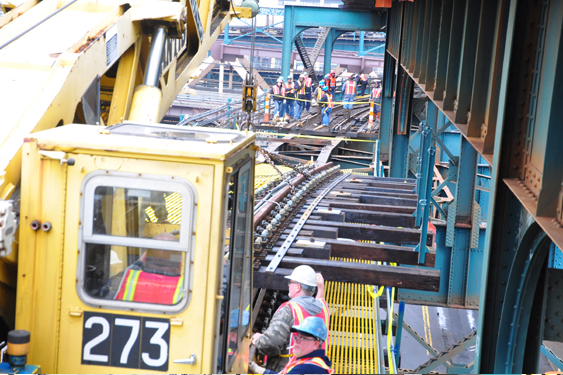 Transit work on M.T.A. number 7 line