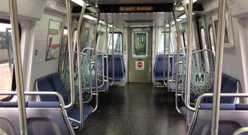 Photo of WMATA 7000 rail car interior