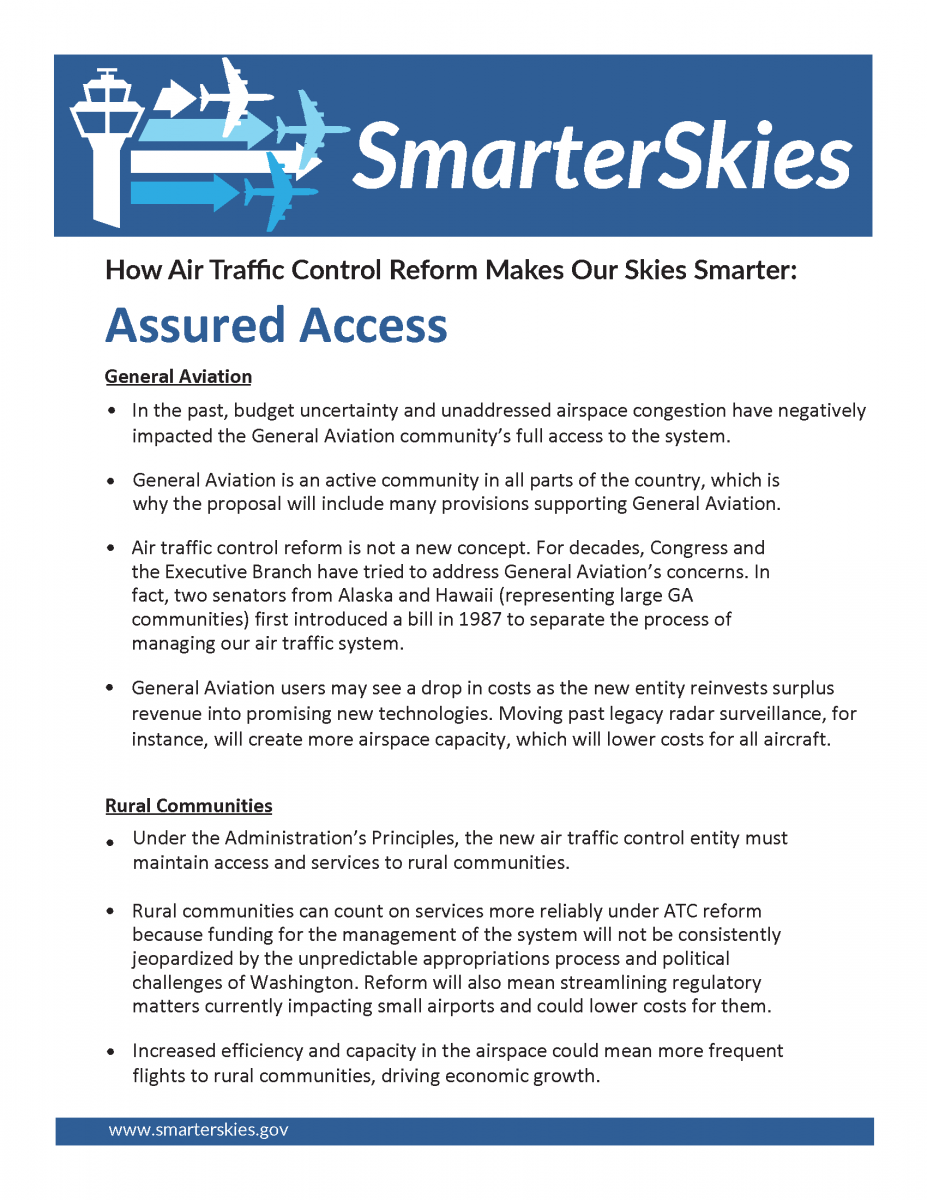 Screenshot of the Access fact sheet