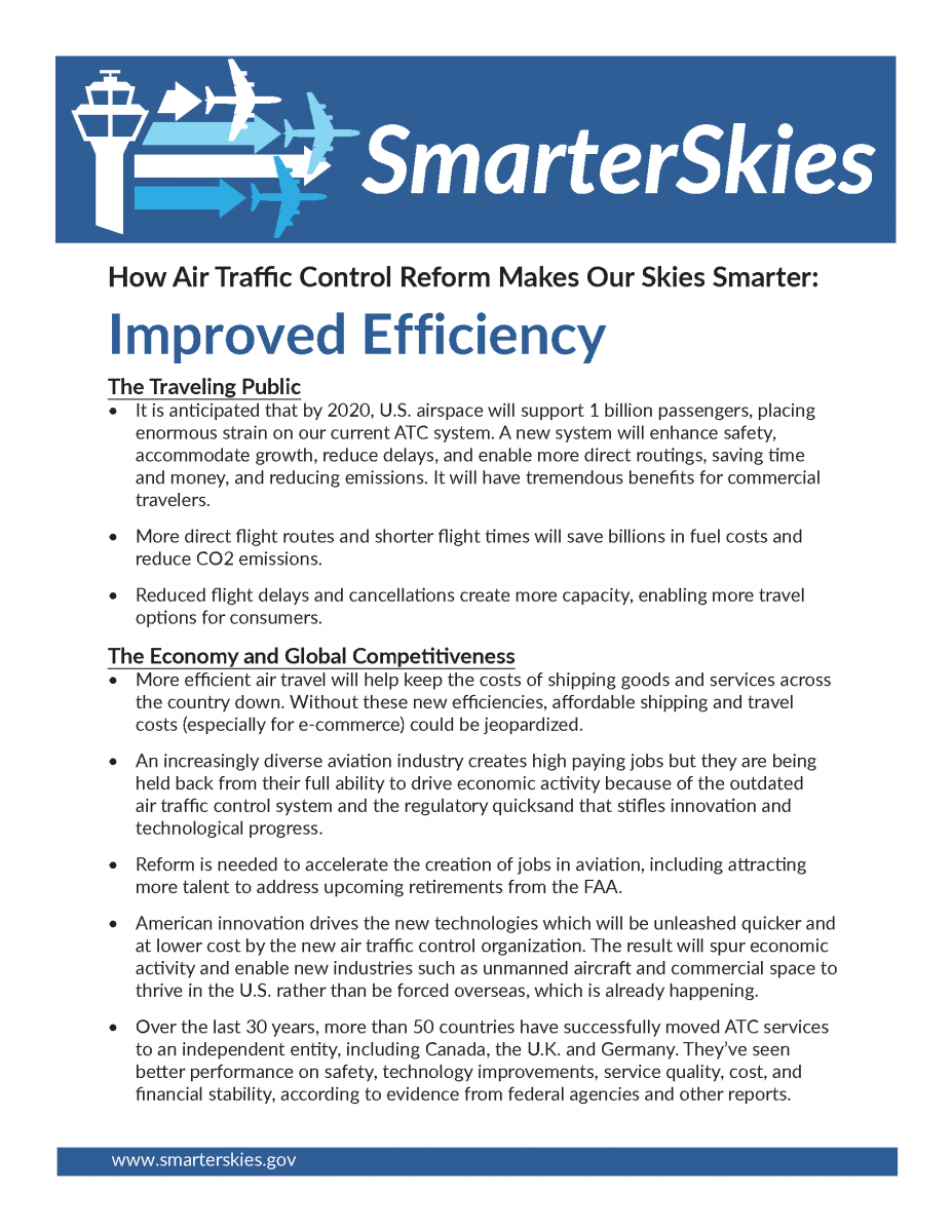 Smarter skies fact sheet improved efficiency us for The travels of at shirt in the global economy pdf