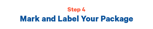 Step 4 Mark and label your packages