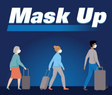 Mask up graphic.