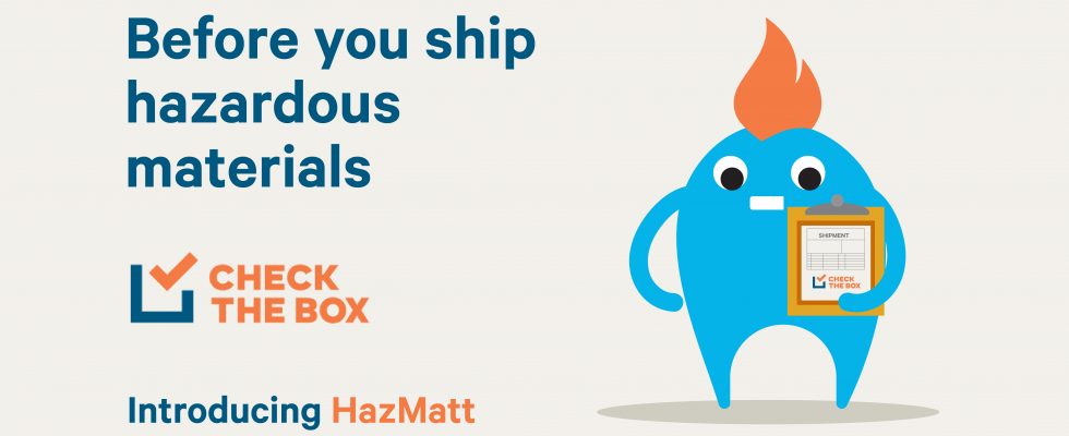 Before you ship hazardous materials, Check The Box