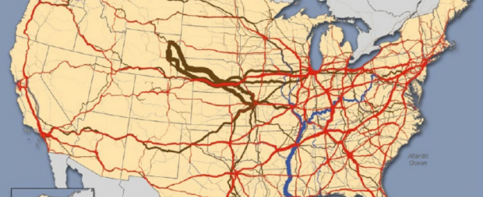Graphic of freight traffic