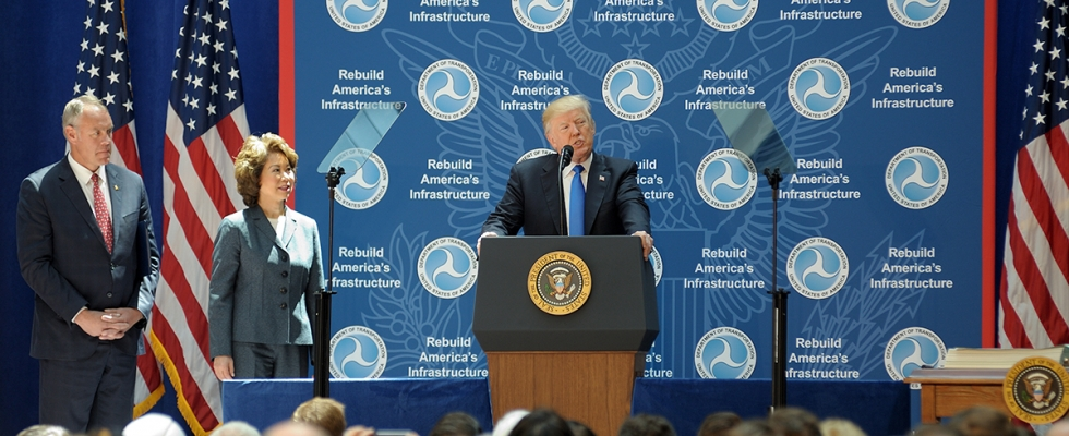 President Trump speaking at Infrastructure Event at DOT