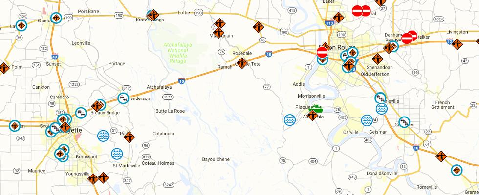 Image of Louisiana Flood Map