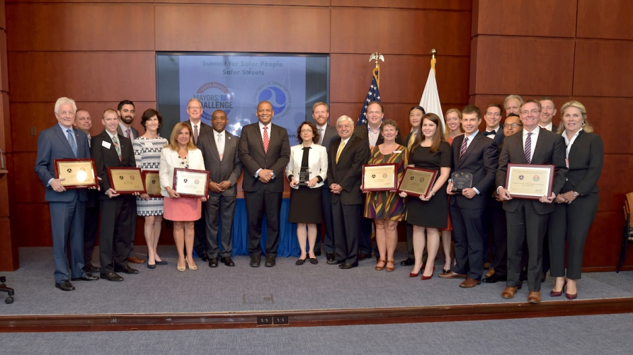 18 Awards Presented to Mayors for Bicycle and Pedestrian Safety Projects