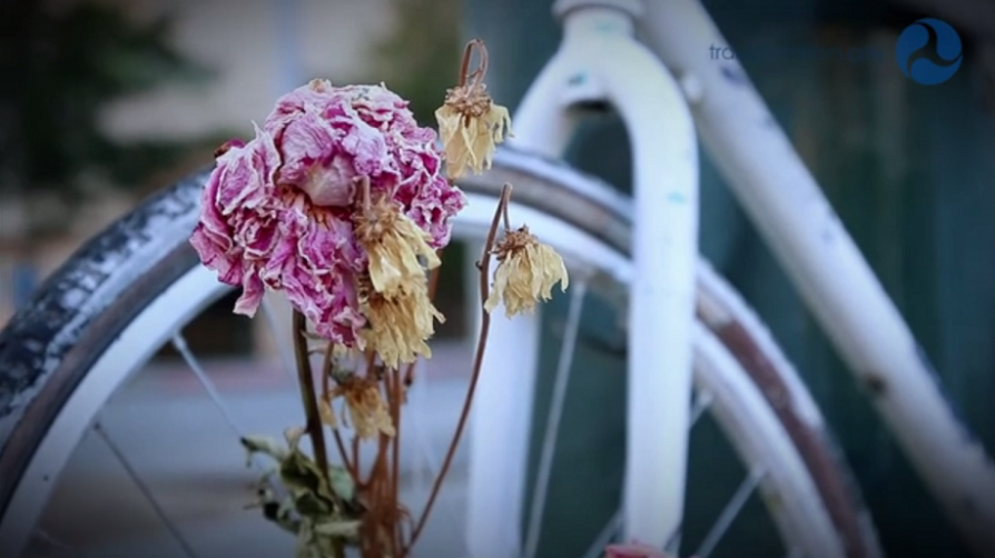 "Screen capture from D.O.T. ""Ghost Bike"" video"