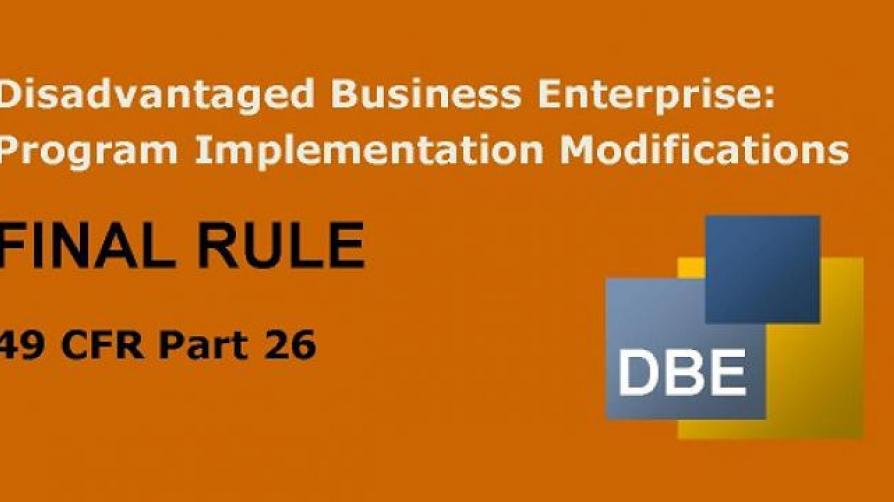 DBE Final Rule banner