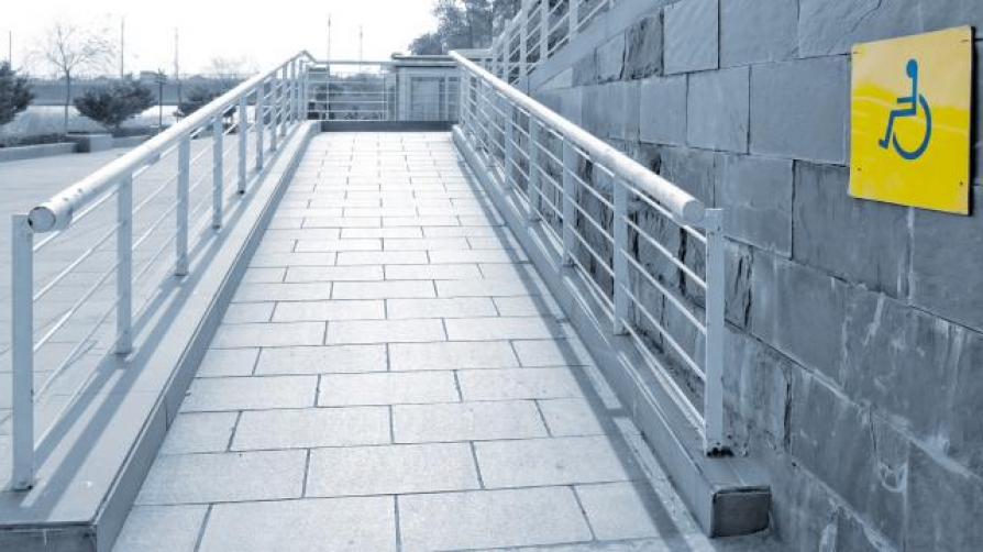 Image of accessible entrance ramp