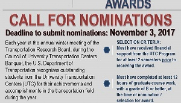 Image of UTC Call for Outstanding Student of the Year Awards Nominations Flyer