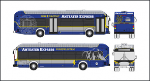Image of bus front, back, left, right sides
