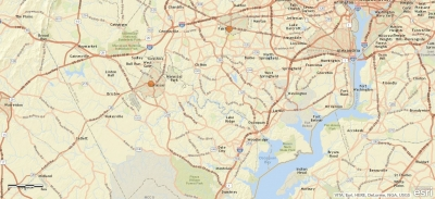 Map of I-95 section in Northern Virginia