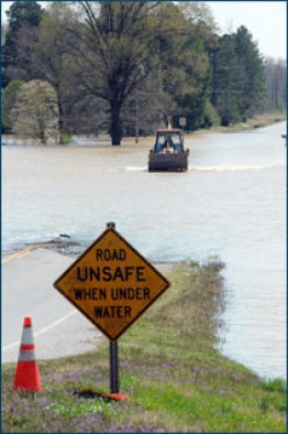 Disaster Recovery NTRS Road Underwater