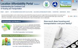 Screenshot of the Location Affordability Portal