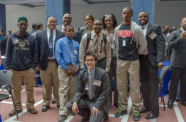 "Students at the ""Mentorship, Careers, and Empowerment: Ladders of Opportunity for Young Men of"