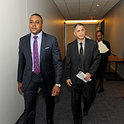 Victor Mendez, Deputy Secretary, Department of Transportation (Center) and Brandon Neal, Director, Office of Small Business.